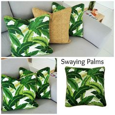 Outdoor cushions - Swaying Palms with the perfect partner Tampico Rattan . Outdoor Cushions, Palms, Rattan, Indoor Outdoor, Throw Pillows, Etsy, Design, Wicker, Palmas