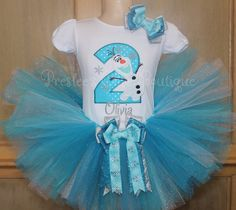Olaf Birthday tutu set, Olaf snowflake Birthday tutu set! Perfect for a Frozen themed Birthday party or for pictures! by Presleeschicboutique on Etsy