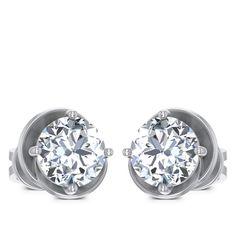 Bezel Solitaire Earring solitaire earring Diamond Solitaire Earrings, Jewels, Engagement Rings, Enagement Rings, Wedding Rings, Jewerly, Diamond Engagement Rings, Gemstones, Fine Jewelry