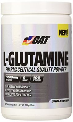 GAT Pure and Potent LGlutamine Supplement for Advanced Athlete Recovery 500 Gram ** See this great image @