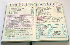 How I track intuitive eating in my bullet journal.  I like the day of the week and date in this spread... NTM