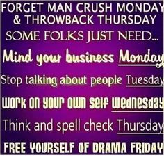 Forget Man Crush Monday and all the rest of those days. Man Crush Monday Quotes, Thursday Quotes, Thursday Humor, Forgotten Man, Stop Talking, Throwback Thursday, Throwback Quotes, Really Funny, Real Talk