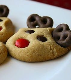 Peanut Butter Reindeer Cookies - My Honeys Place