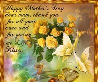 Thank you for all your care and for giving me life Happy Mothers Day Pictures, Mothers Day Gif, Happy Mother Day Quotes, Good Morning Picture, Morning Pictures, Facebook Image, For Facebook, Good Morning Cartoon, Happy Mother's Day Gif