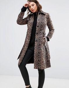 Shop Now - >  https://api.shopstyle.com/action/apiVisitRetailer?id=633124919&pid=uid6996-25233114-59 Helene Berman Leopard Print Trench Coat  ...