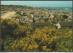 Hugh Town From Buzza Hill, St Mary's, Isles of Scilly, c.1990 - Beric Tempest Postcard