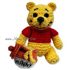 "2"" . Winnie the Pooh + Hunny"