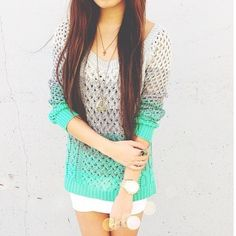 ombre sweater. ♡