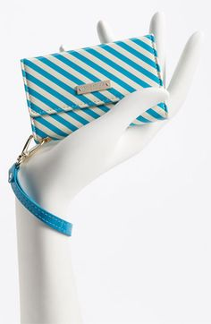 kate spade new york stripe iPhone wristlet | Nordstrom