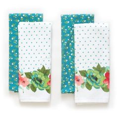 The Pioneer Woman Vintage Bloom Kitchen Towel Set, 4pk I would like 3 sets, I don't really have kitchen towels. Mine get borrowed. $11.88