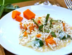 Risotto with Butternut Squash, Chicken and Sage makes a flavorful fall meal | cookingchatfood.com