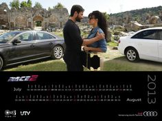 The Audi has been handsomely presented in the upcoming action-thriller Race 2. Here's a sneak peek of Audi's latest 2013 calendar for the movie.