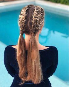 Ponytail Braided Hair How do u do a braid? Braided Hair Styles For Kids Hairstyles For School, Braided Hairstyles, Wedding Hairstyles, Cool Hairstyles, Infinity Braid, Natural Hair Styles, Short Hair Styles, Blonde Hair Shades, Types Of Braids
