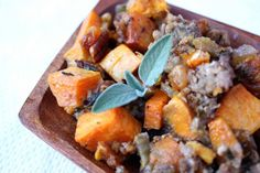 12 Paleo Dishes Perfect for Thanksgiving | Savory Sweet Potato Stuffing - www.Xperimentsinliving.com