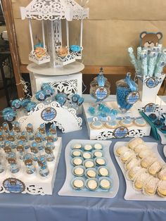 Baby Boy Shower Sweet Table  $$ more info at geobetancour@gmail.com