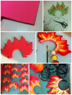 Art ,Craft ideas and bulletin boards for elementary schools: Head band for fire prop Fireworks Craft For Kids, Happy New Year Fireworks, 4th Of July Fireworks, Fireworks Design, Fireworks Art, Diwali Craft For Children, Homemade Fireworks, Hobbies And Crafts, Crafts For Kids