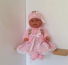 """Handmade Baby Dolls Clothes for 10""""- 11""""  Llorens  / Reborn doll or similar"""