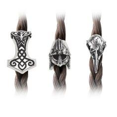 Alchemy-Gothic-Norse-Braid-Viking-Raven-Hammer-Helmet-Pewter-Hair-Beard-Beads