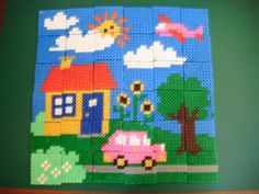 Puzzle hama perler (with pattern) by jojolastouflette