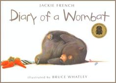 Buy Diary of a Wombat by Jackie French at Mighty Ape NZ. A delightful and entertaining peek into the life of one very busy wombat! Find out how one wombat - between scratching, sleeping and eating - manages . Toddler Books, Childrens Books, Good Books, My Books, Australian Animals, Australian Art, Wombat, Kids Story Books, Animal Books