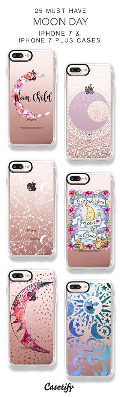 25 Must Have Moon Day Protective iPhone 7 Cases and iPhone 7 Plus Cases. More Galaxy iPhone case here > https://www.casetify.com/collections/top_100_designs#/?vc=Asd9wPFf05