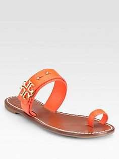 #Oranges - Tory Burch Elina Textured Leather Sandals #toryburch