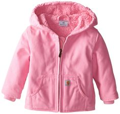 Carhartt Baby Girls' Redwood Jacket Sherpa Lined, Pink, 12 Months