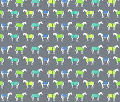 Horse Rugs of a Different Color fabric by ragan on Spoonflower - custom fabric Horse Wallpaper, Fabric Wallpaper, Horse Fabric, Horse Rugs, Gift Wrapper, Custom Fabric, Fabric Shop, Fabric Decor, Fabric Patterns