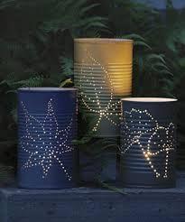 Tin Can Lanterns, Garden Lanterns, Metal Lanterns, Hanging Lanterns, Candle Lanterns, Diy Lantern, Lantern Crafts, Glass Candle, Garden Candles