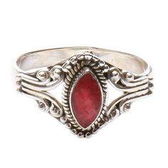 Rubín prsten stříbro Ag 925 LU 78