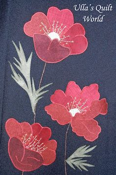 Ulla's Quilt World: applique flower with template