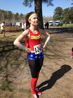 Wonder Woman inspired tank top by ThisPrincessRuns on Etsy