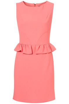 TOPSHOP   Mini Peplum Pencil Shift Dress