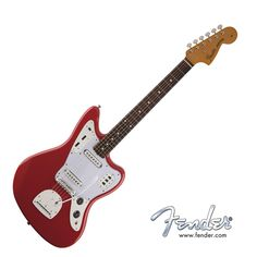 Fender Classic 60's Jaguar Lacquer Electric Guitar - Fiesta Red with Gig Bag