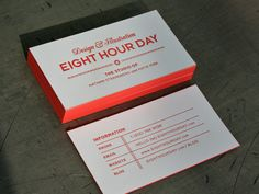 Design by Eight Hour Day, letterpress by Studio on Fire