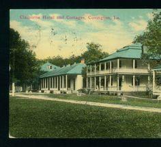 Claiborne Hotel and Cottages, Covington, La 1912:: LSU Libraries Postcard Collections