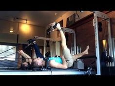 Fun Pilates workouts reformer- Feet in Straps flow, Long spine variations, hamstring stretches - YouTube