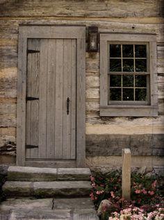 log cabin door - simple design for a primitive cabin