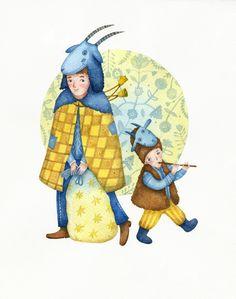 Christmas costumes of Ukraine on Illustration Served