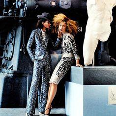 FASHION EDITORIALS:  Raquel Zimmerman & Joan Smalls : US Vogue March 2013  www.fashion.net/today