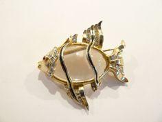 Gorgeous 1950 Coro Jelly Belly Fish Brooch / Pin A.Katz / Brunialti Bookpiece #Coro