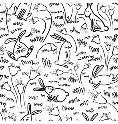 Pattern with rabbits vector 1865197 - by gollli on VectorStock®