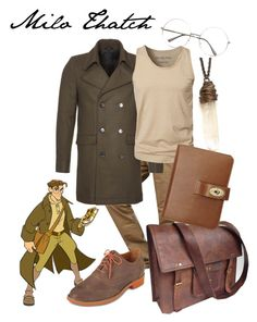 """""""Milo Thatch"""" by totallytrue ❤ liked on Polyvore featuring Zalando, SELECTED, Cole Haan, Mulberry and milo thatch atlantis the lost empire disney disneybound"""