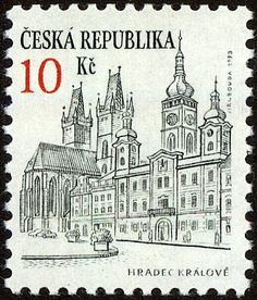 Hradec Králové Old Stamps, Interesting Buildings, European Countries, Writing Paper, Stamp Collecting, Czech Republic, Postage Stamps, Logo Design, Collections
