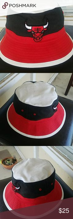 Mitchell and Ness Chicago Bulls bucket hat Picked this up at a UO in chicago my first time in the city ill never forget that day. This hat is pretty much new. The top of the hat is barely dirty. OVERALL 8/10 Urban Outfitters Accessories Hats