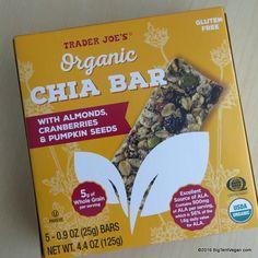 Organic Chia Bar with Almonds, Cranberries & Pumpkin Seeds #traderjoes