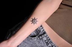 shippng libero tatuaggio temporaneo ancora e barca a vela autoadesivo ...
