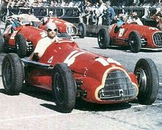 #14 Juan Manuel Fangio...SA Alfa Romeo...Alfa Romeo 158...Motor Alfa Romeo 158 L8 c 1.5...#18 Alberto Ascari...#22 Luigi Villoresi...Scuderia Ferrari...Ferrari 125...Motor Ferrari 125 V12 c 1.5...#30 Prince Bira...Enrico Plate...Maserati 4CLT/48...Motor Maserati 4CLT L4 c 1.5...GP Suiza 1950