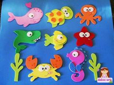Resultado de imagen para peces goma eva moldes