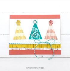Label Image, Pinata Party, Concord And 9th, Happy 2nd Birthday, Get The Party Started, Simon Says Stamp, Card Kit, Cool Cards, Party Hats